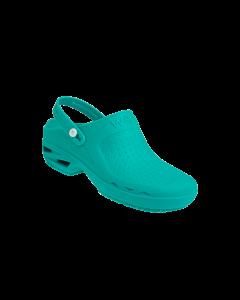 Bloc Zueco Medico con Tira Color Verde Talle 36; 1u/Caja