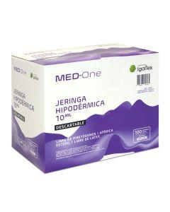 Med-One Jeringa Hipodérmica Descartable s/aguja; 10ml; 100u/Caja