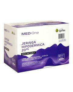 Med-One Jeringa Hipodérmica Descartable s/aguja; 20ml; 50u/Caja