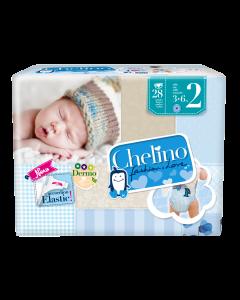 Chelino Pañal para Chicos Talle Recien Nacido; 3-6 Kg; 168u/Caja