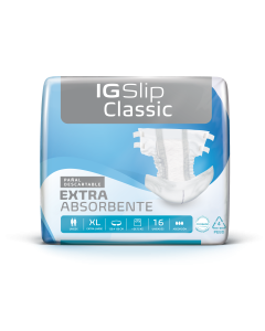 IG Slip Classic Pañal para Adulto Talle XL; 120-150 cm; 64u/Caja