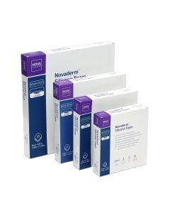 Novaderm Silicone Foam Aposito Adhesivo de Espuma con Silicona 10cm x 10cm; 5u/Box